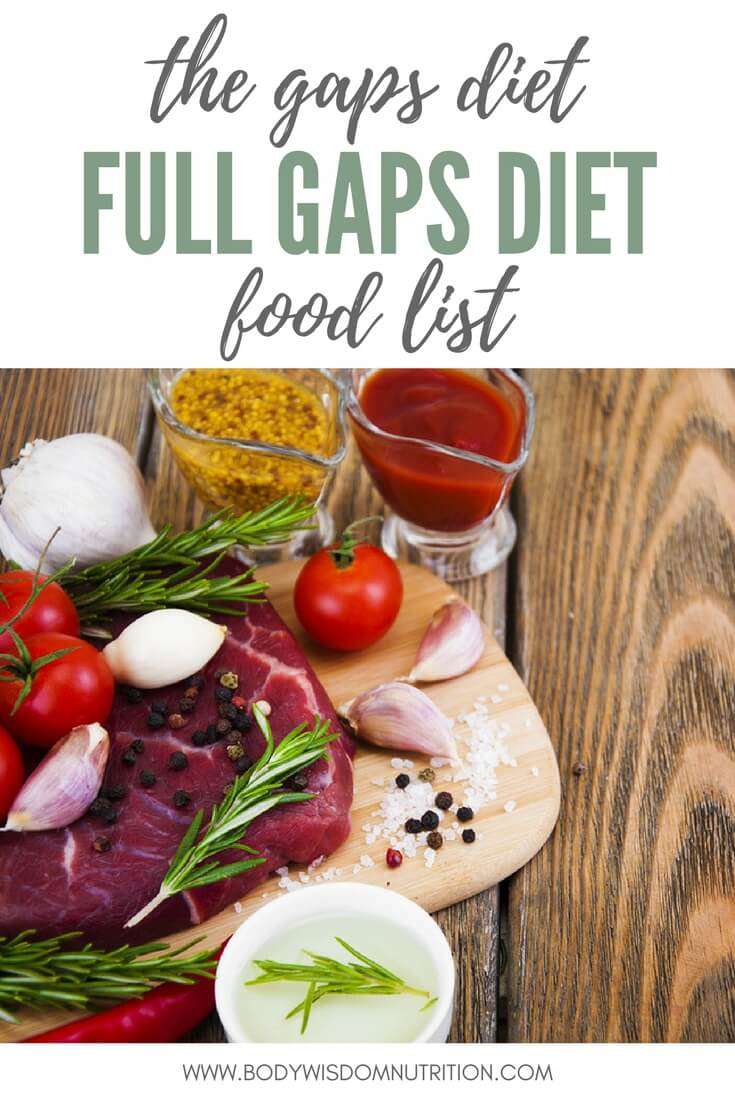 full gaps™ diet • body wisdom nutrition
